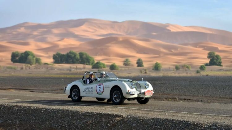 Jaguar XK120 on the 2016 Marrakech Tour