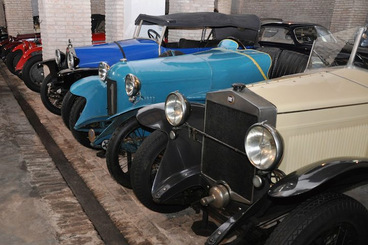 From left, Bugatti, Salmson Race Car and Fiat