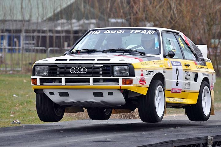 Audi Quattro flying high at 30