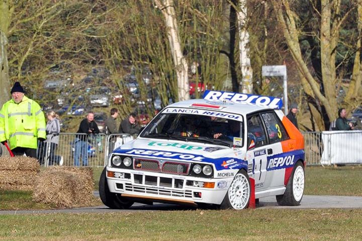 Mick Wood in the Lancia Delta Integrale Evo