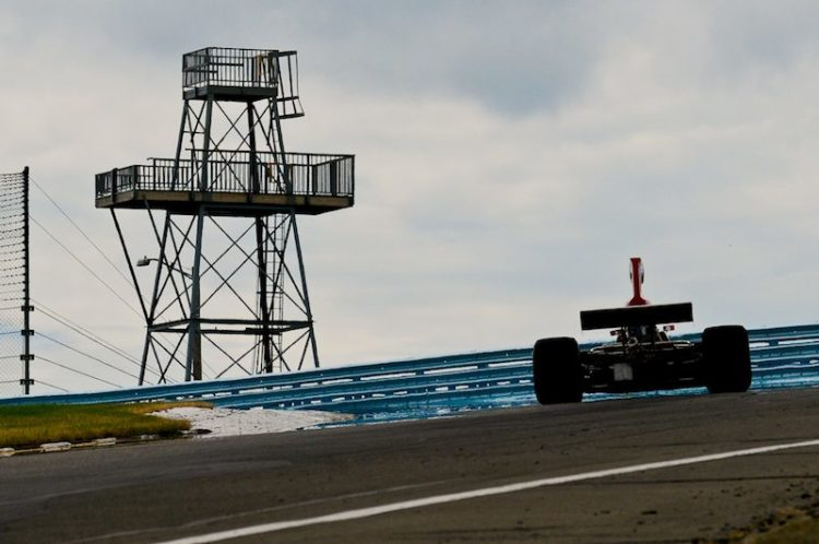 Lola T332 F5000 at the Top of the Esses