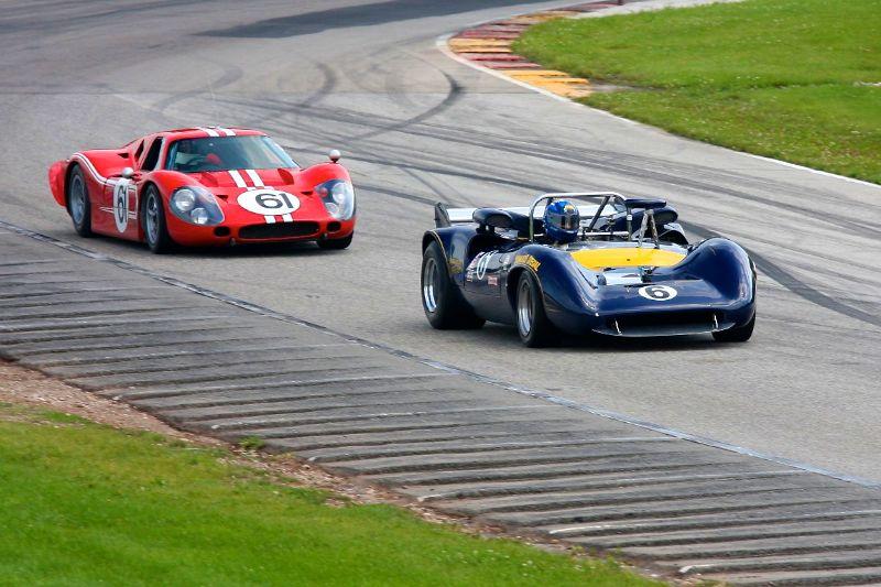 Lola T70 leads Ford GT40 Mk IV