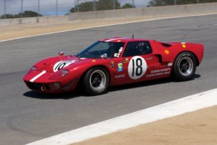 Nick Colonna on top of the Corkscrew in his 1966 Ford GT40.