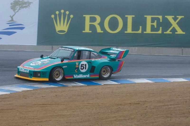 Foggy, wet track greets Richard Griot's 1977 Porwsche 935 K3.