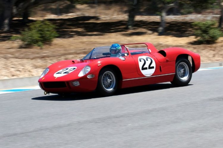 Into nine is Stephen Hill in his 1963 Ferrari 250P.