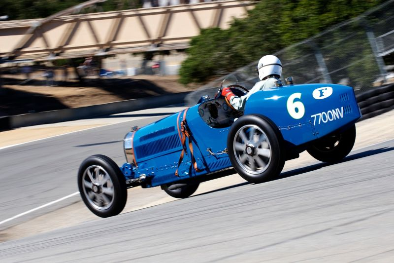 Jonathan Feiber in his 1930 Bugatti Type 35B.