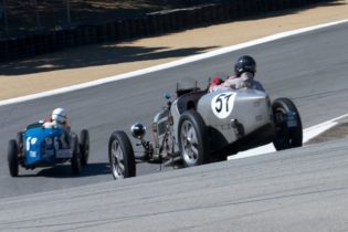 1933 Bugatti Type 51 driven by Hubert Jaunin follows Ivan Zaremba into turn 8A.