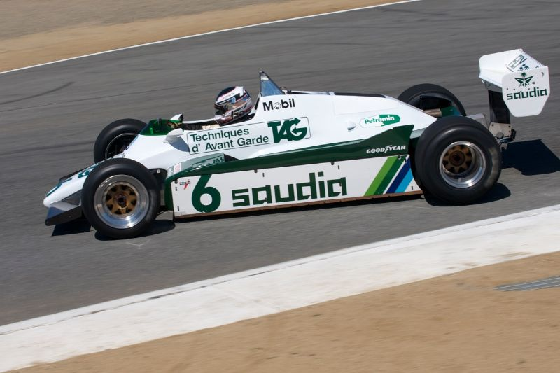 Second place finisher Michael Fitzgerald in his 1983 Williams FW 08C.