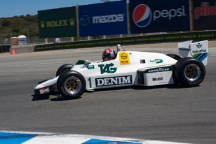 Third place finisher Erich Joiner in his 1983 Williams FW 08C.