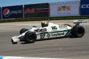 First place finisher is Charles Nearburg in his 1981 Williams FW 07B.