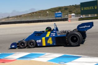 Craig Bennett in his fast 1976 Tyrrell P34.