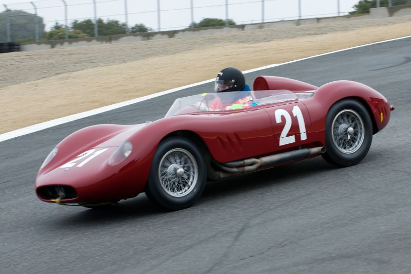 Tom Price in his 1957 Maserati 200/250Si.