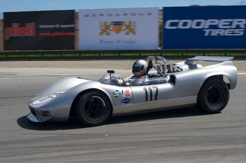 Farrell Preston in his McLaren M1B.