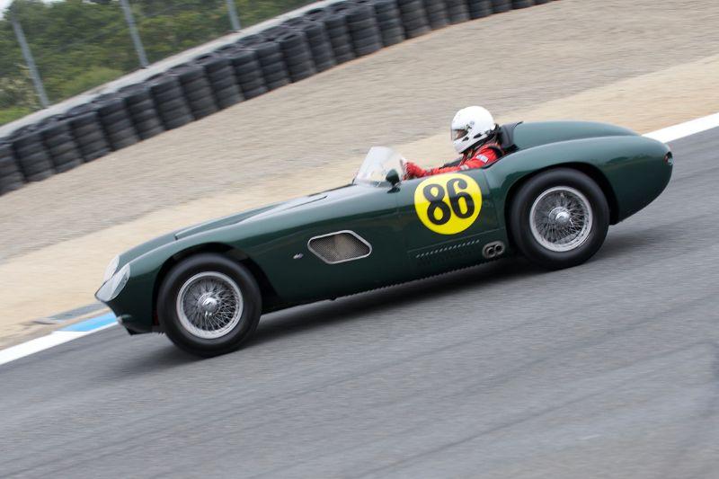 Bernard Juchli in his 1955 Jaguar Hagemann Special.