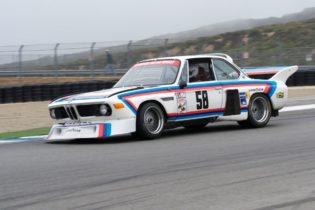 Henry Schmitt in his 1974 BMW 3.5 CSL Batmobile.