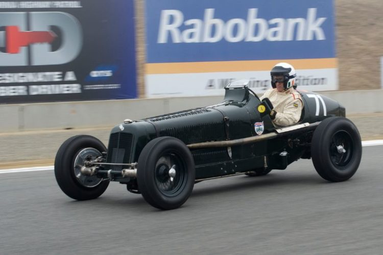 Fastest on the track - Paddins Dowling with the 1934 ERA A Type.