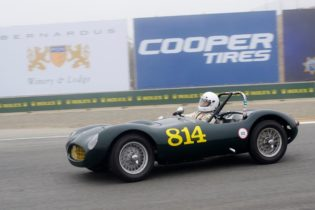 Kevin Adair in his 1955 Elva MK.1.