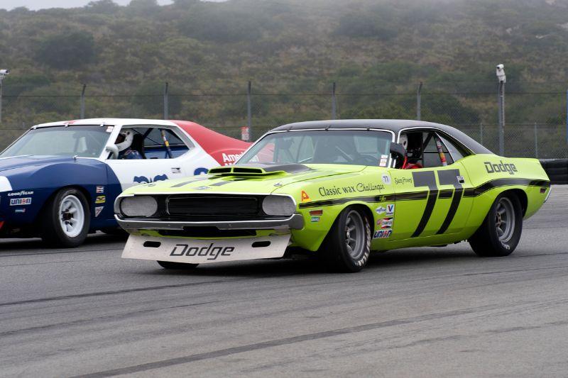 Ken Epsman in his 1970 Dodge Challenger.