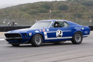 Bruce Canepa in the ex-Dan Gurney 1969 Ford Mustang