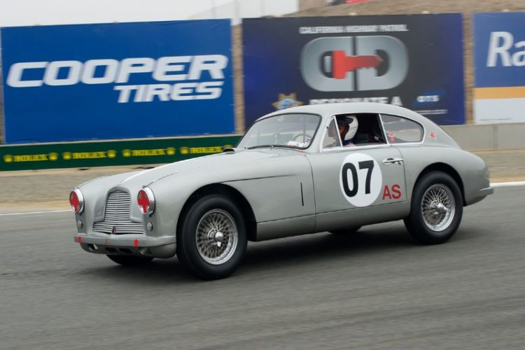 Luca Maciucescu in his 1953 Aston Martin DB2/4.