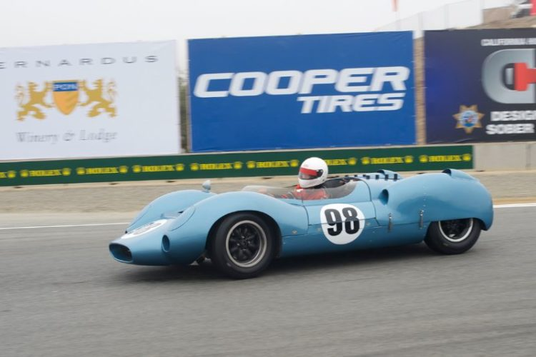 Bill Hartman in his 1963 Shelby King Cobra.