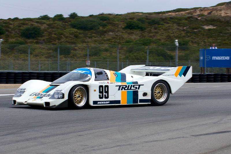 Eric Edenholm in his 1991 Posche 962.