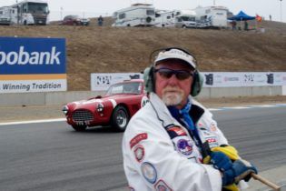 Mike Neff one of the expert SCCA course staff that keep the races flowing.