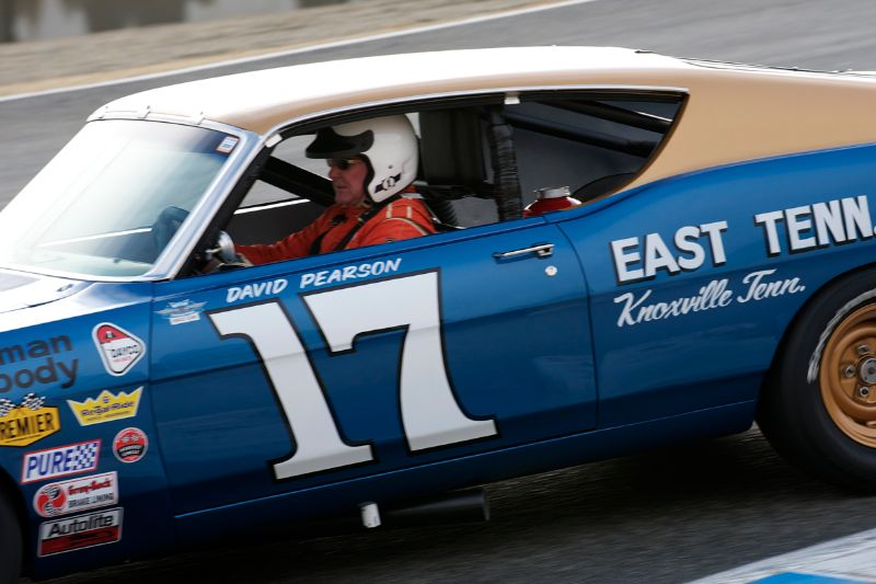 Jimmy Castle Jr. goes down the Corkscrew in his 1968 Ford Torino Cobra.