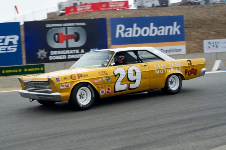 Justin Bell wheels the 1966 Ford Galaxie.
