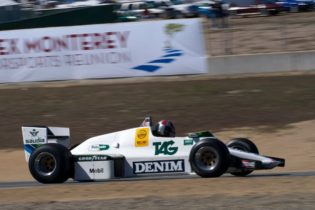 Erich Joiner in his 1983 Williams FW 08C.