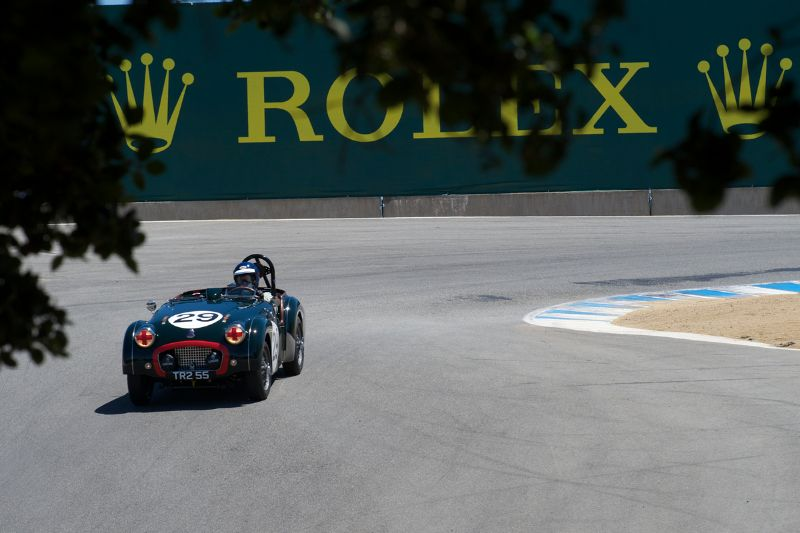 David Nelson's TR2 in the Corkscrew.