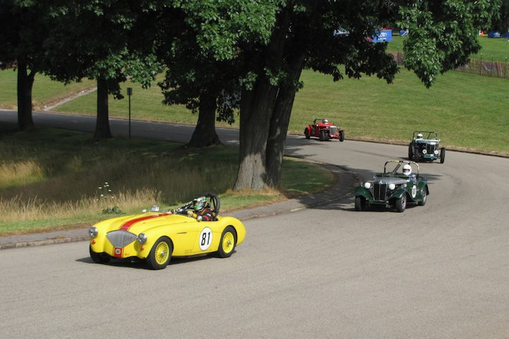 1955 Austin Healey 100/4 and 1953 MG TD