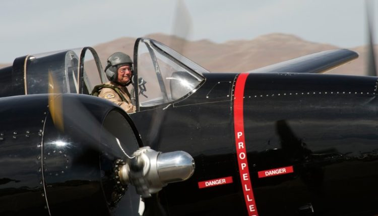 Rod Lewis in the F7F-3 'Big Boss Man'