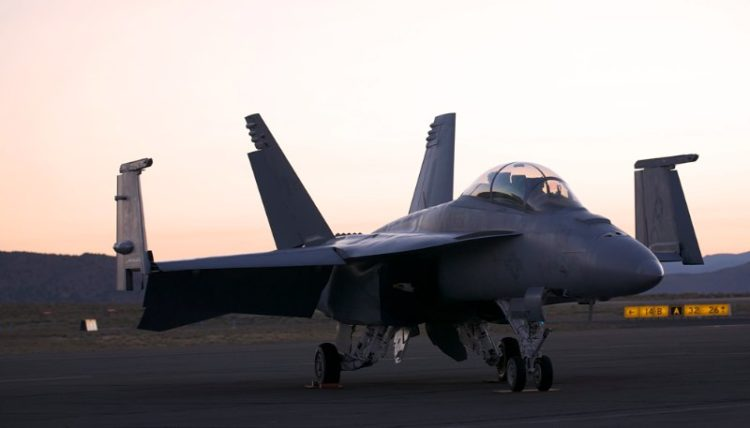 Navy F-18.