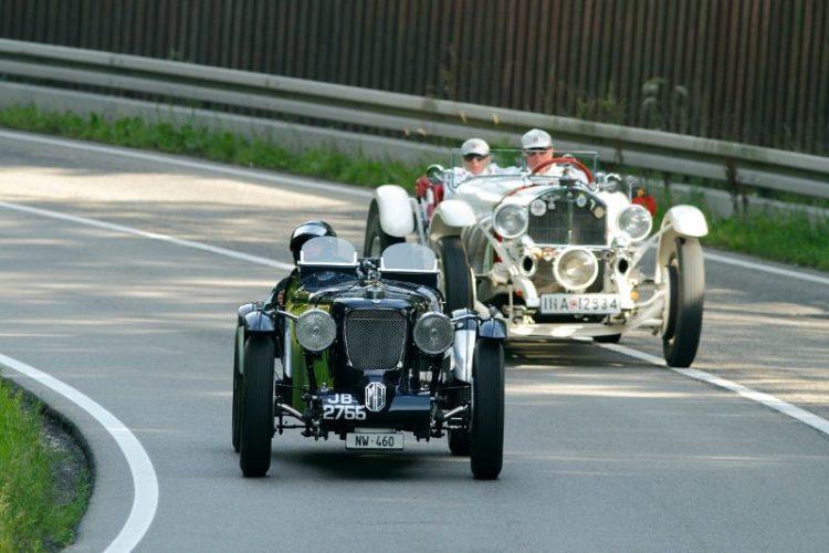 1936 MG N Magnette and 1929 Mercedes-Benz SSK