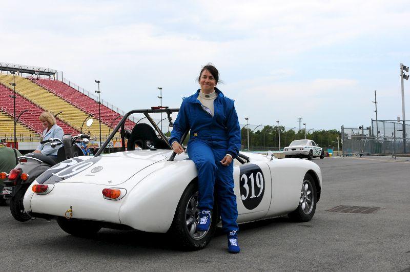 Dawn Myers 1961 MGA.