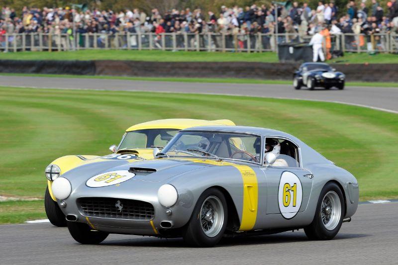 1960 Ferrari 250 GT SWB Competition - Vincent Gaye and David Franklin and 1963 AC Cobra - Bill Bridges and Brian Redman