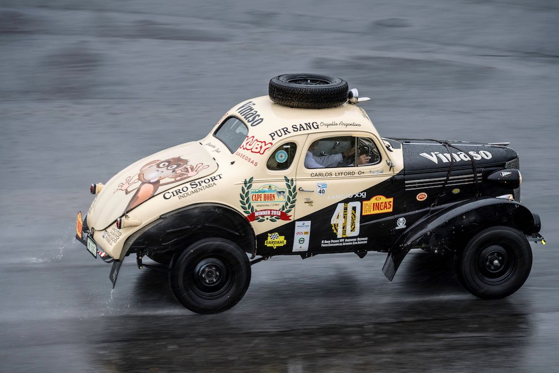 Car 40 Chuck Lyford(USA) / Pamela Lyford(USA)1938 - Chevrolet Fangio Coupe, Rally of the Incas 2016, Rally of the Incas 2016. Day 01 Buenos Aires - Mar del Plata