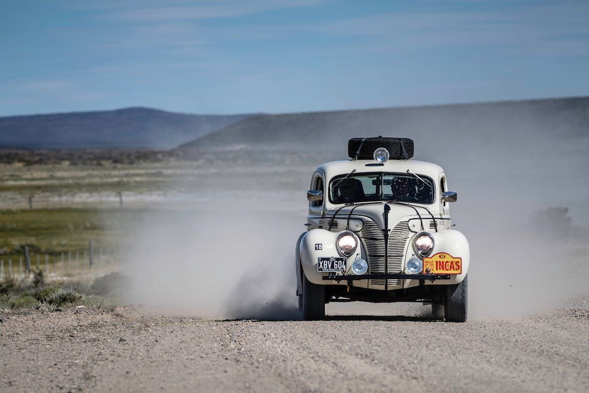 Car 18 Peter Thornton(GB) / David Garrett(GB)1939 - Ford Coupe, Rally of the Incas 2016, Rally of the Incas 2016. Day 05 Puerto Madryn - Esquel