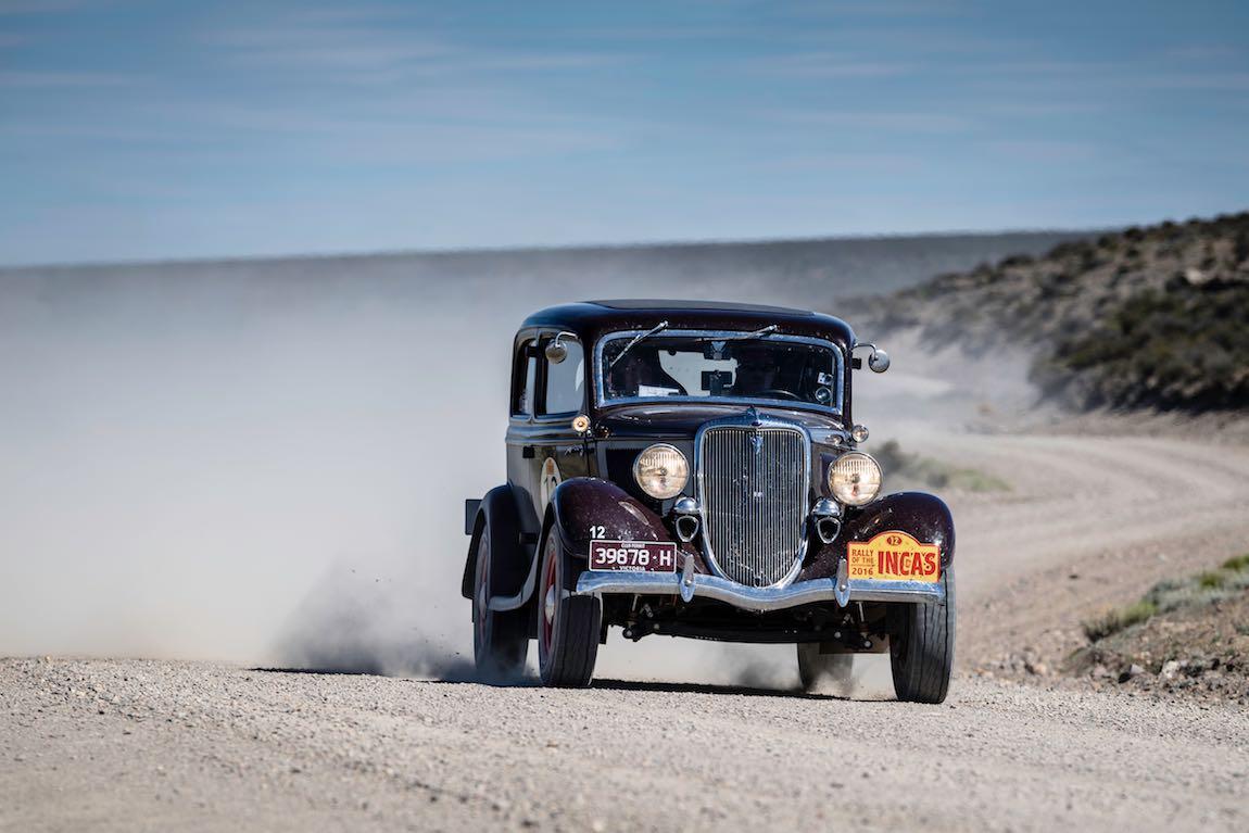 Car 12 Paul Kirkham(AUS) / Mariella Kirkham(AUS)1934 - Ford 40 B Tudor, Rally of the Incas 2016