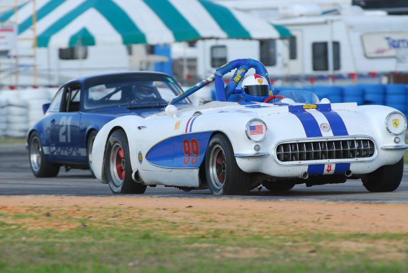 Bob Wechsler, 1957 Corvette.