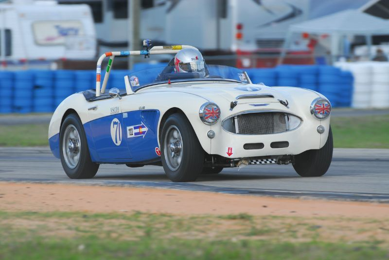Mike Fisher, 1960 Austin Healey 3000.