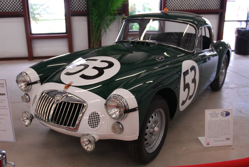 """1962 """"Works"""" Sebring MGA Deluxe Coupe. Drivers: Sir John Whitmore, Bob Olthoff and F. Morrell."""
