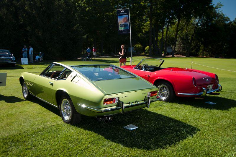 1969 Maserati Ghibli and 1963 Ferrari 250 GT SWB California Spider