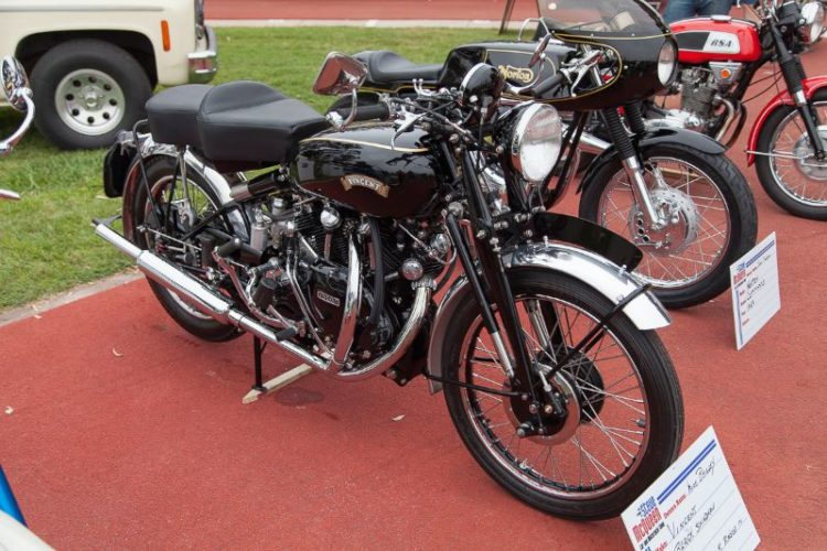 1951 Vincent Black Shadow, owned by Mike Begley.