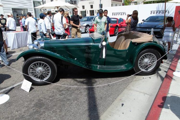 1937 Jaguar SS100 - formerly owned by Mel Torme.