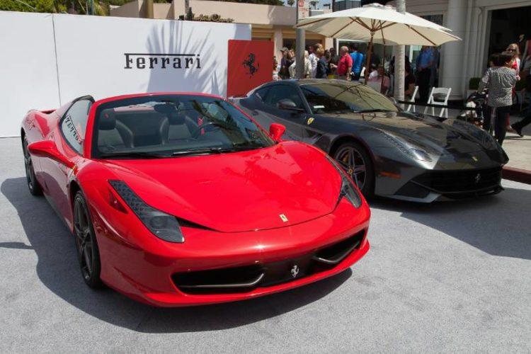 Ferrari displayed a 458 Italia Spider and a F12 Berlinetta.
