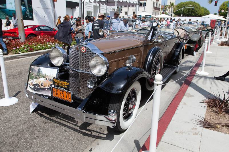 1932 Packard 903 Sport Phaeton - formerly owned by actress, Jean Harlow.