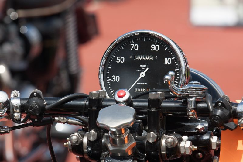 Speedometer - 1951 Vincent Black Shadow, owned by Mike Begley.