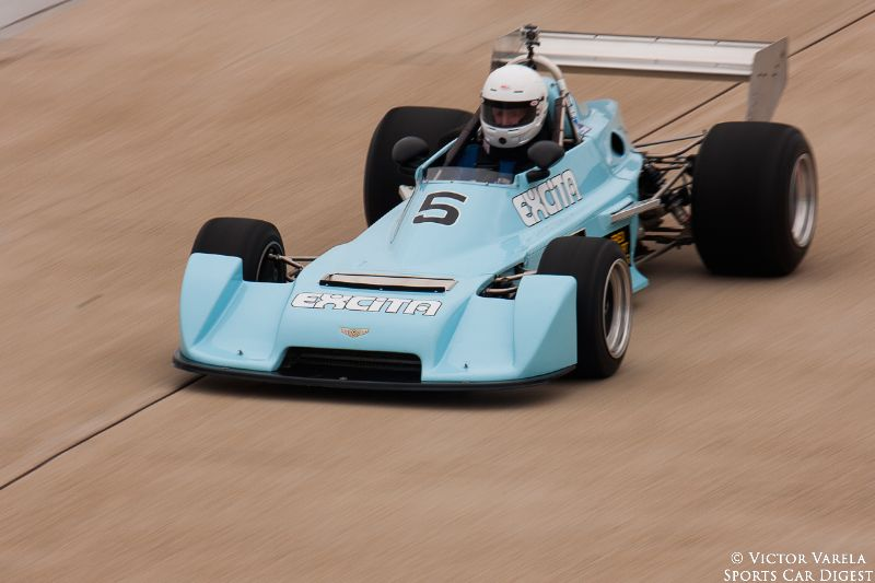 Bill Cord on the front straight in his 1977 Chevron B39. © 2014 Victor Varela